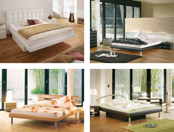 Moderne Einrichtung des Schlafzimmers